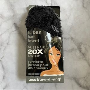 Studio Dry Black Turban Hair Towel